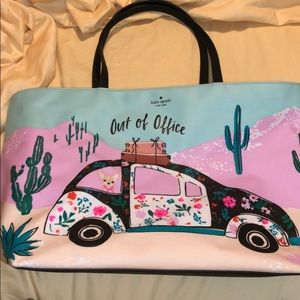 Kate spade out of office Volkswagen big tote cacti